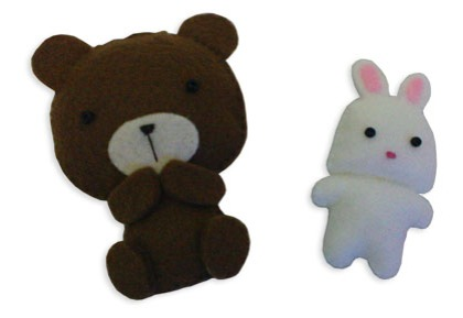 felt-bear-and-rabbit